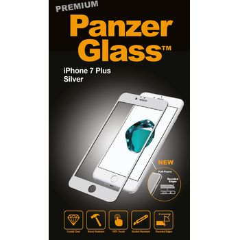 PanzerGlass ochranné premium sklo pro Apple iPhone 7 plus, stříbrná