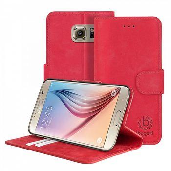 Bugatti flipové pouzdro BookCase Madrid pro Samsung Galaxy S6, červená