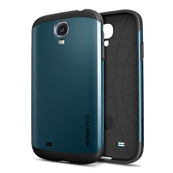 Spigen pevné pouzdro Slim Armor pro Galaxy S4, břidlicová