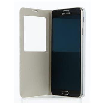 ANYMODE pouzdro typu kniha se stojánkem pro Samsung Galaxy Note 3 s funkcí S-view, PU kůže, bílé