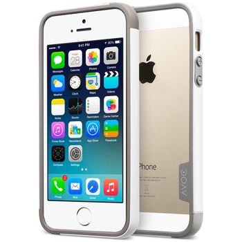 Zenus AVOC bumper duo pro Apple iPhone 5/5S, bílá / šedá