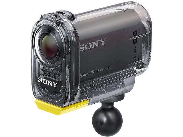 obsah balení RAM Mounts držák se stativovým závitem pro středně velkou videokameru nebo fotoaparát na motorku na řídítka, Ø objímky 12,7-31,75 mm, krátké rameno, sestava RAM-B-149Z-366U