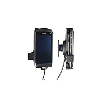 Brodit držák do auta na Nokia N8 bez pouzdra, s nabíjením z cig. zapalovače