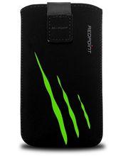 Fixed pouzdro Velvet s motivem Green Scratch, velikost L, černá