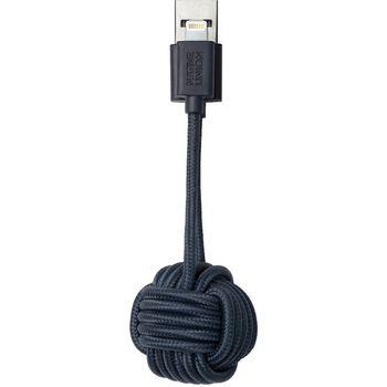 Native Union Key klíčenka s Lightning kabelem, 16.5cm, modrá
