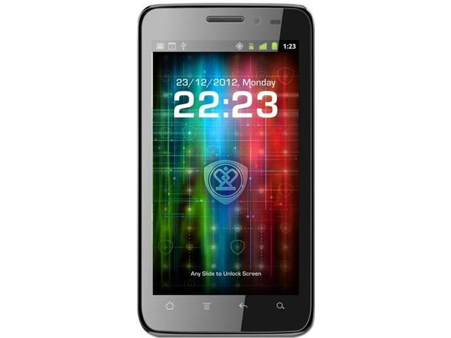 obsah balení Prestigio MultiPhone 4300 DUO (černý) + Zimní kapacitní rukavice (černá)
