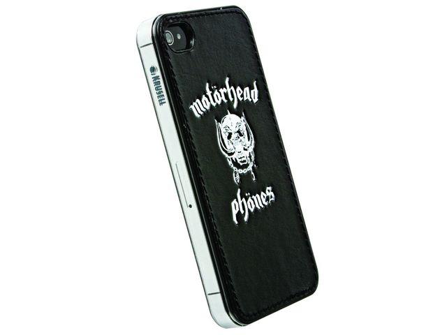 obsah balení Sluchátka Motörheadphönes Overkill s mikrofonem černá + Metropolis UnderCover Apple iPhone 4/4S (černá/bílá)