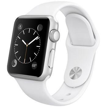 Apple Watch Sport 42mm, stříbrné, bílý pásek