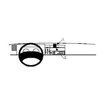 Brodit ProClip montážní konzole pro Renault Traffic 95-01, na střed