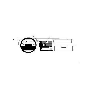 Brodit ProClip montážní konzole pro Toyota HiAce 96-12/Traveler 96-12, na střed