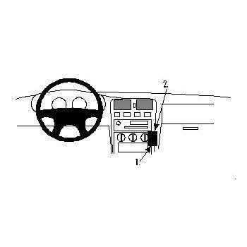 Brodit ProClip montážní konzole pro Nissan Almera 96-99, na střed vpravo