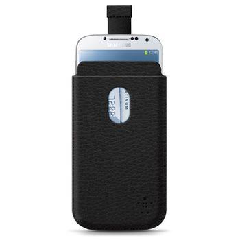 Belkin zasouvací pouzdro pro Samsung Galaxy S4, PU kůže černá