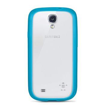 Belkin TPU / PC dvojmateriálové pouzdro pro Samsung Galaxy S4, světle modré / průhledné