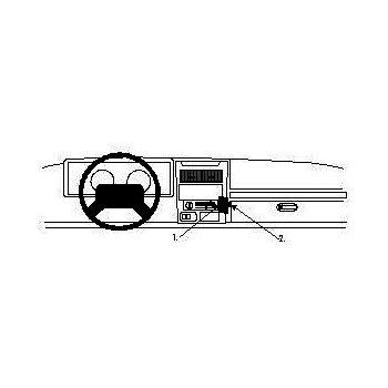 Brodit ProClip montážní konzole pro Jeep Wrangler 97-02 (pouze pro Canadu)