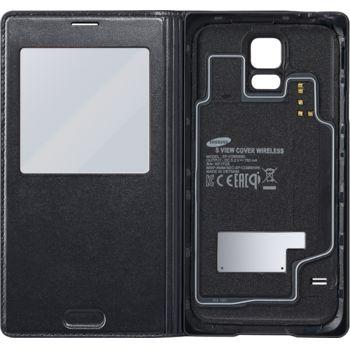 Samsung S View pouzdro pro bezdrátové nabíjení EP-VG900BB pro S5 (G900), černé