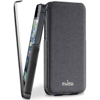 PURO pouzdro Flipper pro Apple iPhone 5 - černá
