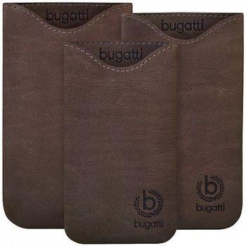 Bugatti Skinny Universal leather case SL (133 x 77mm) - tmavě hnědé