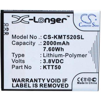 Baterie pro Kazam Tornado 2/Tornado 2 5.0, 2000mAh, Li-ion