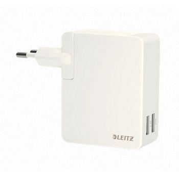 Leitz Complete univerzální USB nabíječka, 24W, bílá