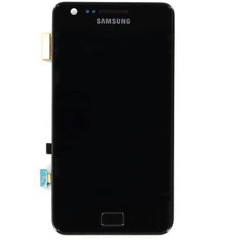 Náhradní díl LCD displej + dotyk + přední kryt Samsung Galaxy S II i9100, černý