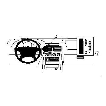 Brodit ProClip montážní konzole pro Mitsubishi Galant 97-03, na střed