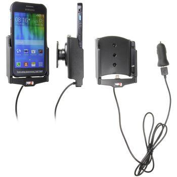 Brodit držák do auta na Samsung Galaxy Xcover 3 bez pouzdra, s nabíjením z cig. zapalovače/USB