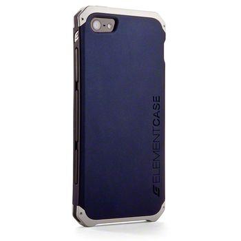 Element Case kryt Solace pro Apple iPhone 5/5S/SE, kovově modrá/stříbrná