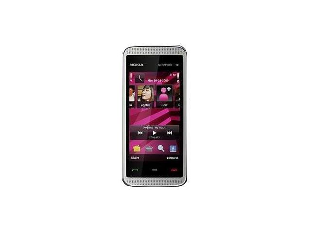 obsah balení NOKIA 5530 XpressMusic Illuvial Pink 2GB + Handsfree BH-105