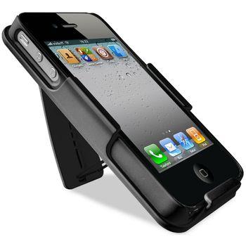 PURO pouzdro Belt Case se stojánkem pro iPhone 4/4S - černá