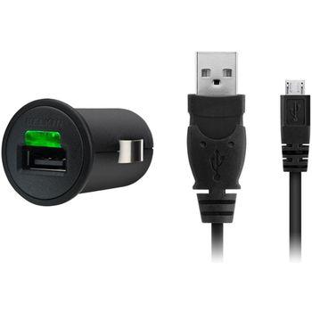 Belkin USB nabíječka do auta 5V/1A, vč. microUSB kabelu - černá (F8M304cw03)