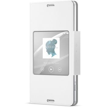 Sony flipové pouzdro Style Cover SCR26 pro Xperia Z3 Compact, bílá, rozbaleno