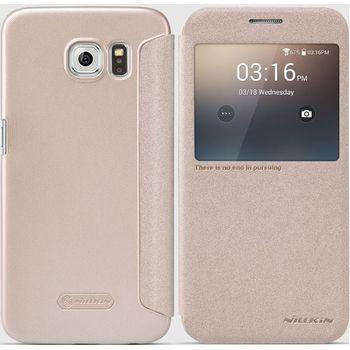 Nillkin flipové pouzdro Sparkle S-View pro Samsung G920 Galaxy S6, zlaté
