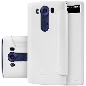 Nillkin flipové pouzdro Sparkle S-View pro LG V10, bílé